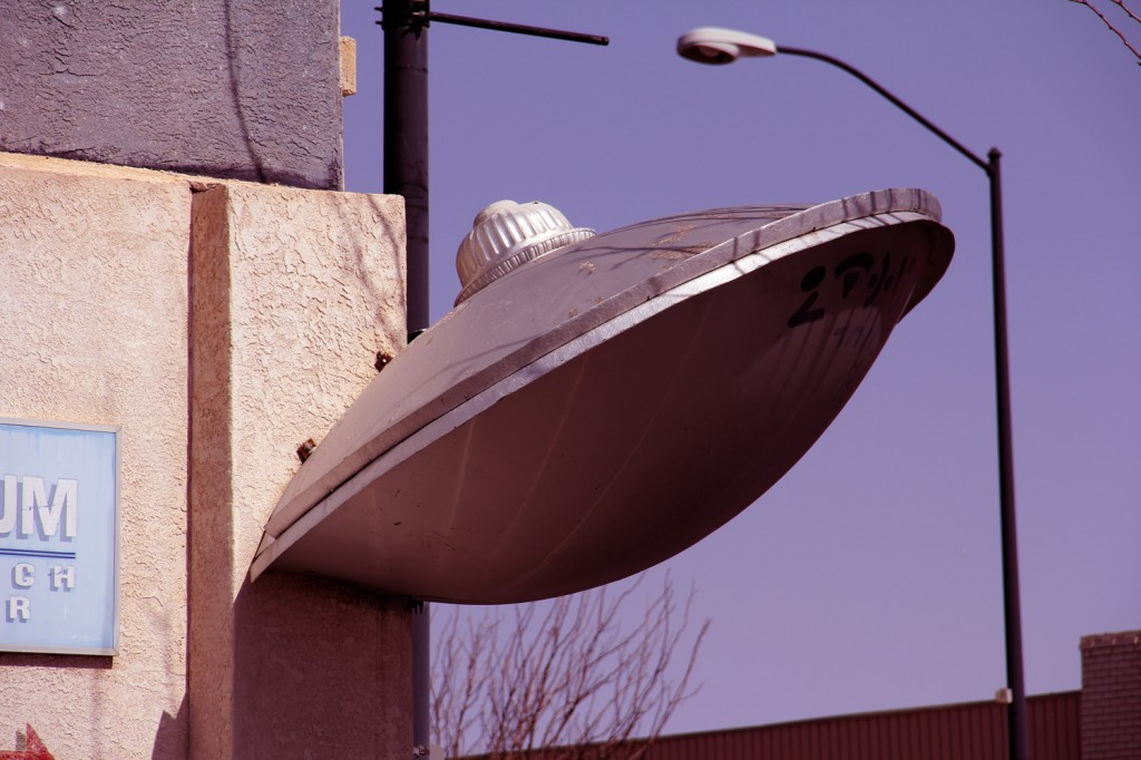 A UFO crashlanded into the museum