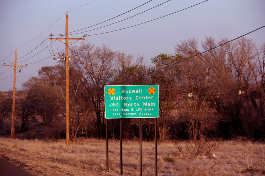 Entering Roswell