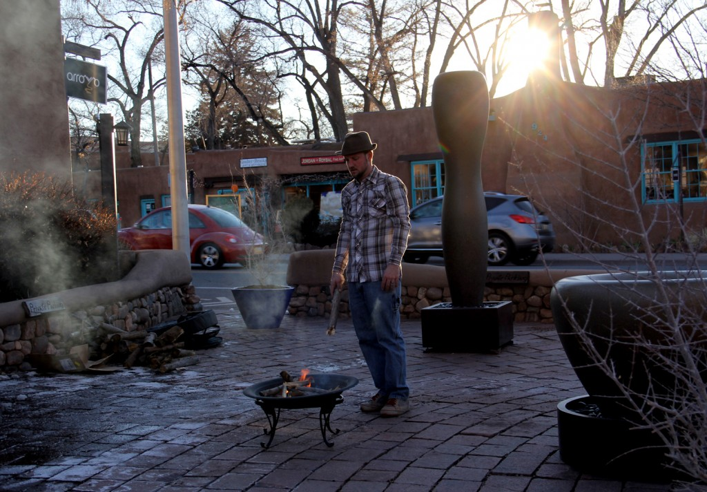 Getting the party started - ArtFeast was both indoors and outdoors, despite the cold!