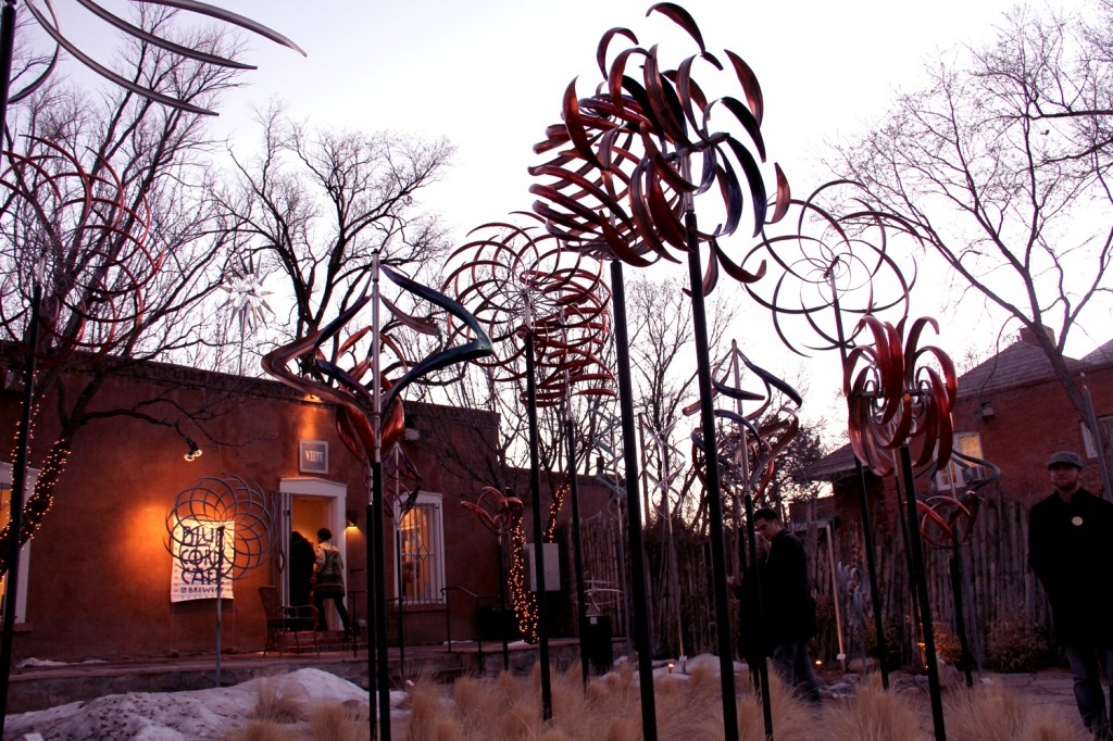 Fun outdoor sculptures at Mark White Fine Art (hosted by Blue Corn Cafe & Brewery)