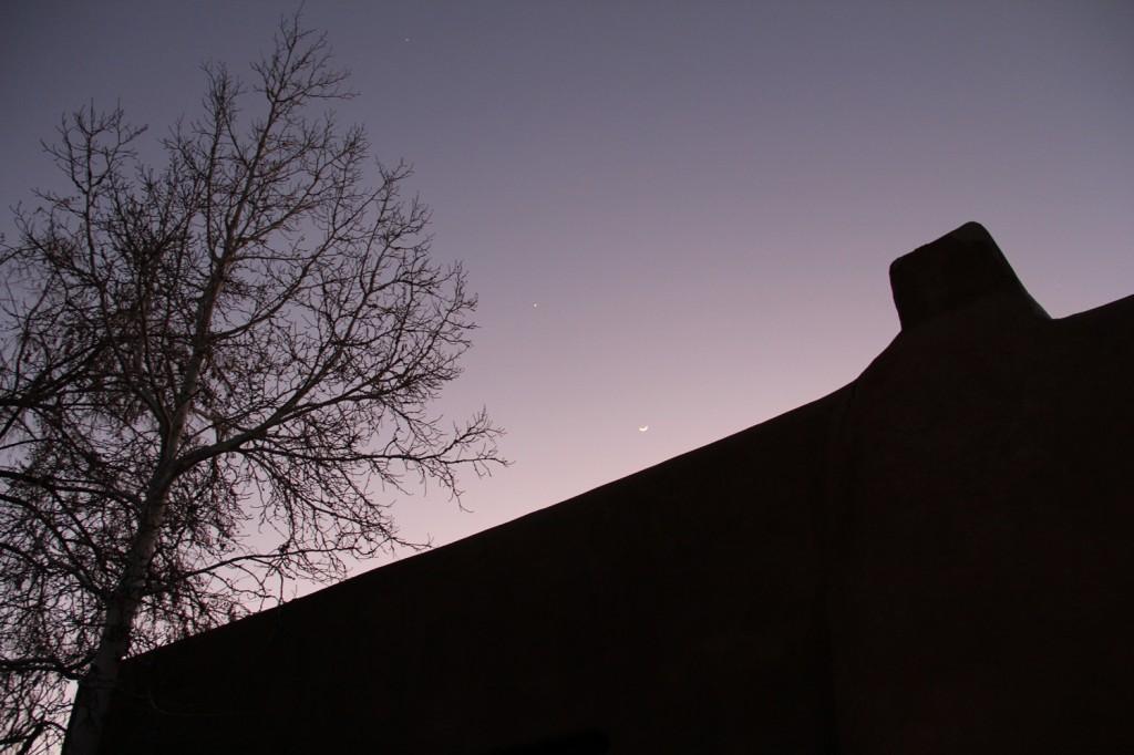 gorgeous night in Santa Fe