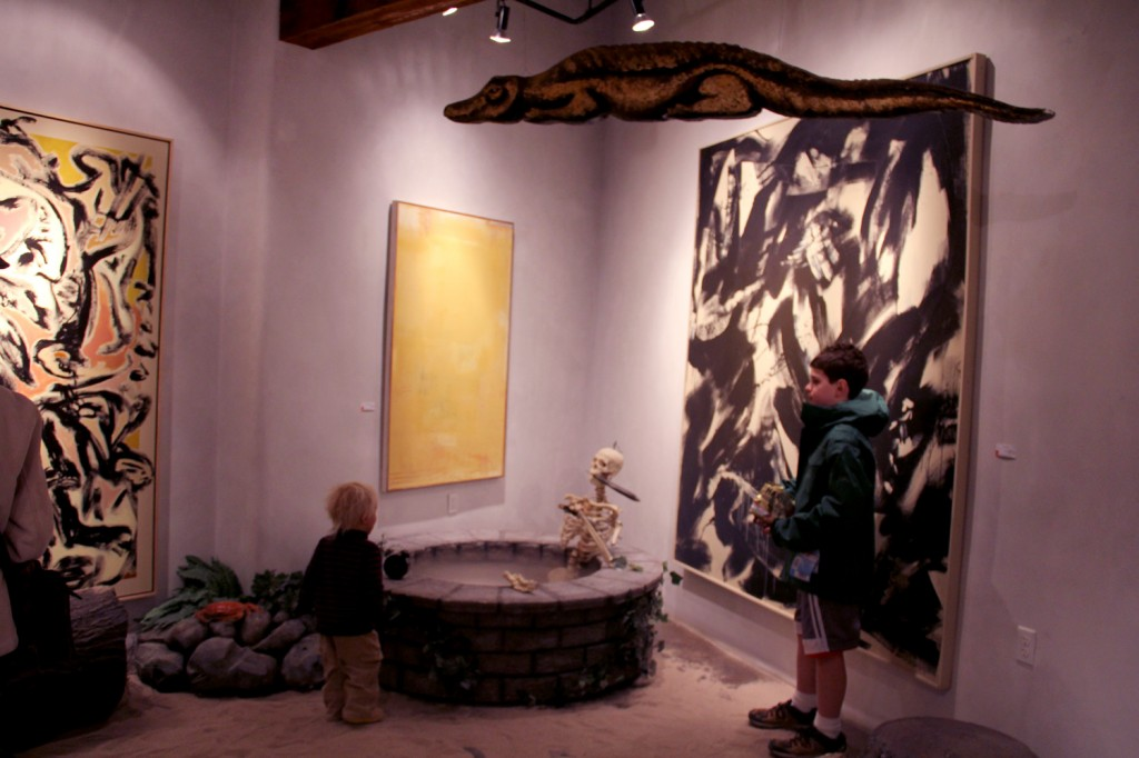 One way to get kids interested in art? Surround it with Peter Pan imagery!