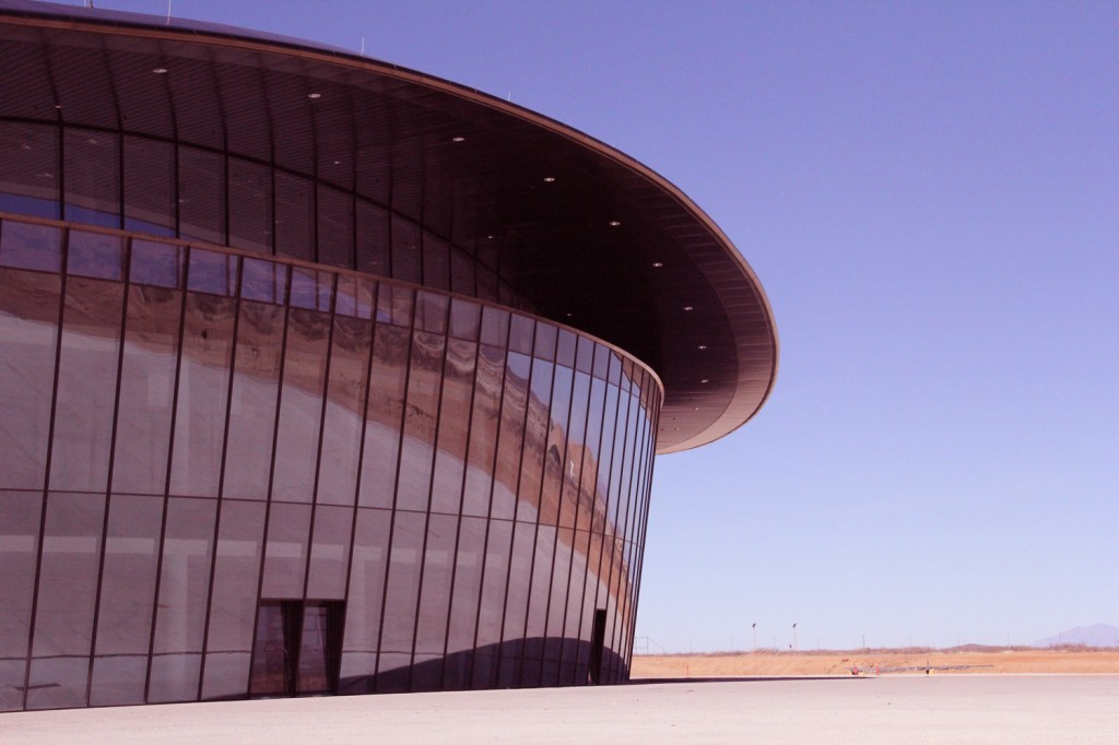 Front view of the Spaceport