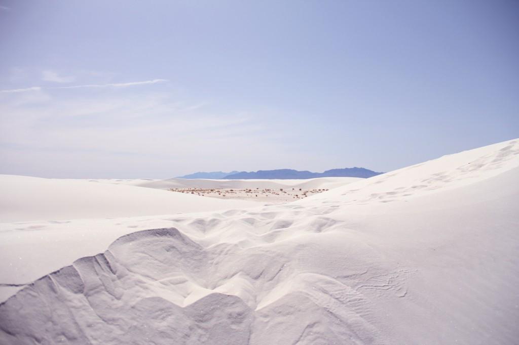Peeking over the dune crest