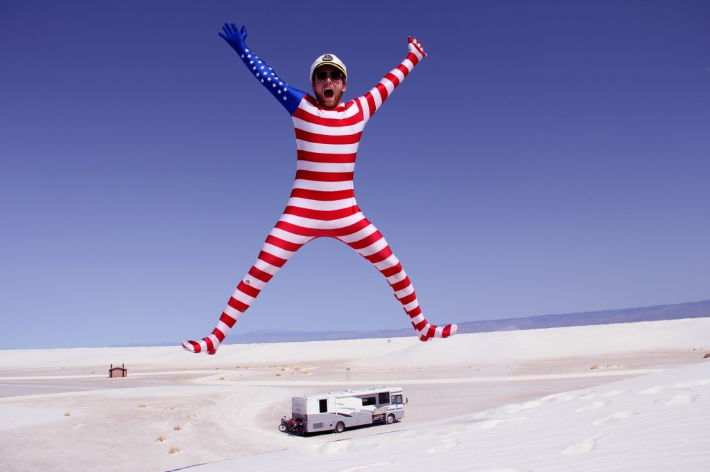 Red, White (Sands), and Blue!