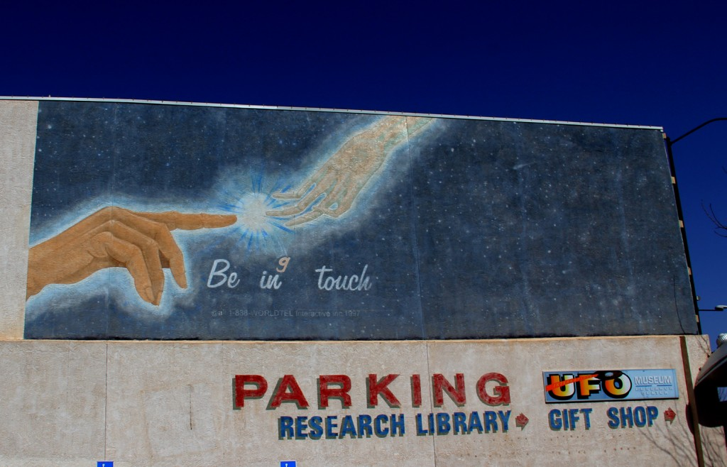 The mural in the parking lot