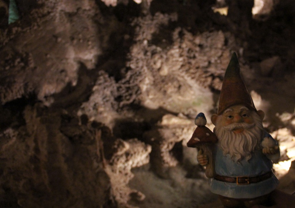 Gnomeo goes caving