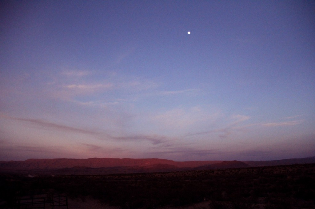 Moonrise over Big Bend