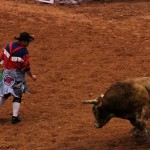 Going after the rodeo clown